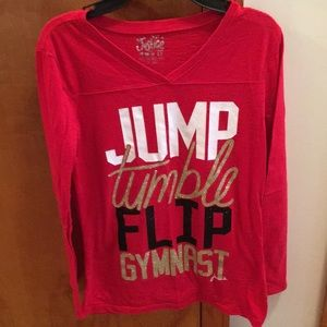 Girls Justice glitter Gymnast long sleeve tee